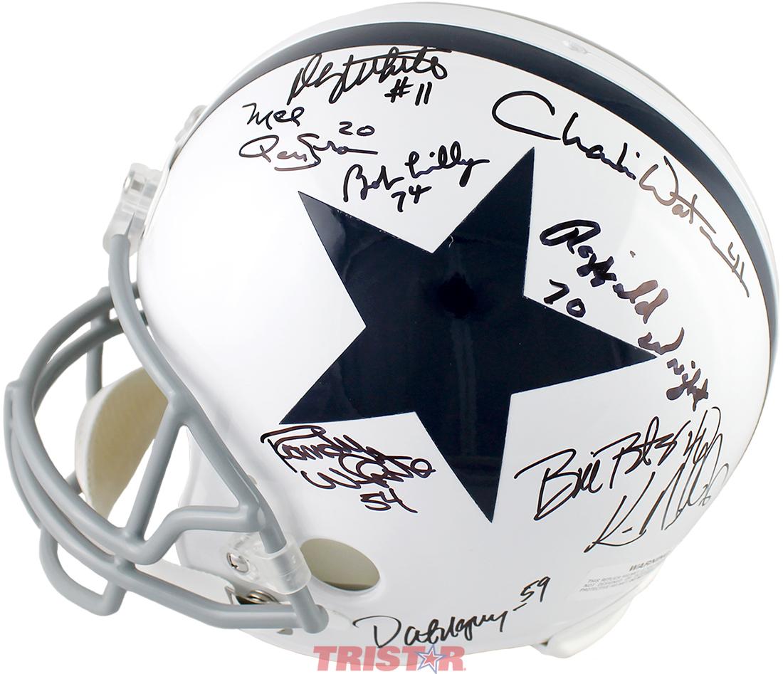 e7349164e Dallas Cowboys Legends Autographed Full Size Helmet - Aikman