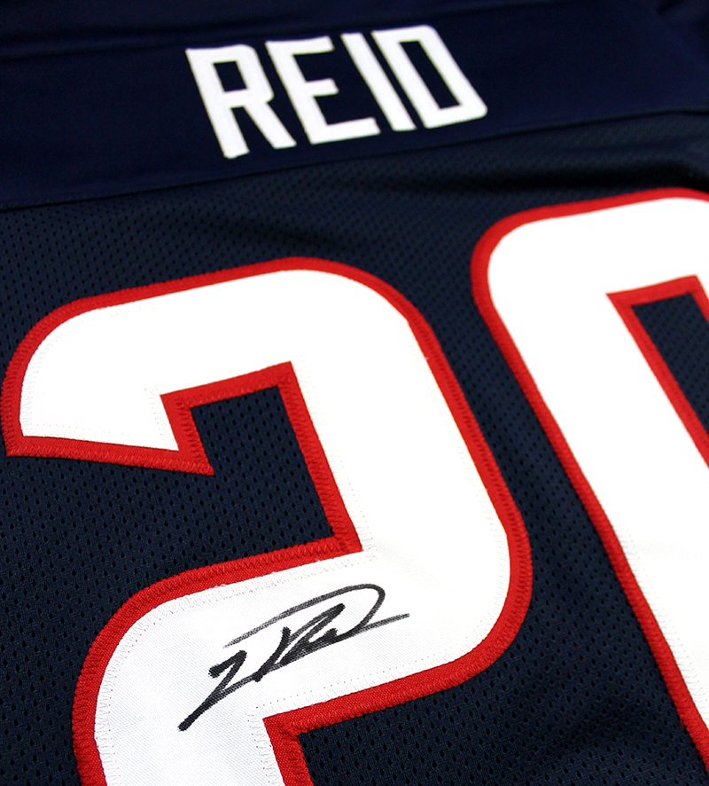 0e13d22aa Justin Reid Autographed Houston Texans Custom Jersey