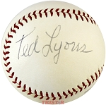 Ted Lyons Autographed Vintage Rawlings Playmaker Baseball PSA/DNA Grade 7