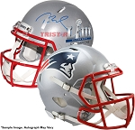 Tom Brady Autographed Patriots Super Bowl LIII Champions Replica Speed Helmet