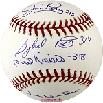 Niekro & Perry Brothers Autographed Baseball Inscribed with Wins