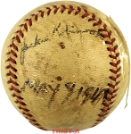 Jackie Robinson Autographed Rare Vintage Game-Used Baseball from 1947