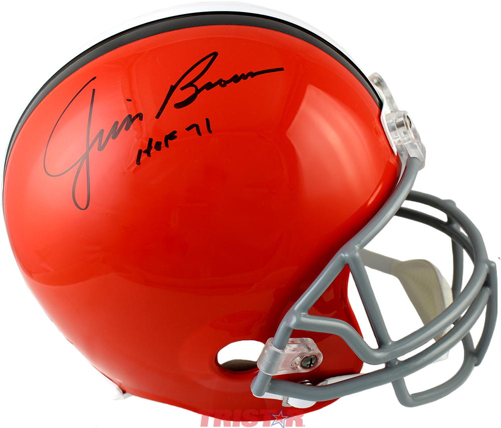 bdb0b6044 Jim Brown Autographed Cleveland Browns Full Size Helmet Inscribed ...