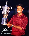 Tiger Woods Autographed 2002 US Open 8x10 Photo - Limited Edition