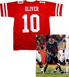 Ed Oliver Autographed Houston Cougars 16x20 Photo & Jersey Combo