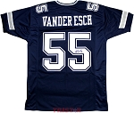 Leighton Vander Esch Autographed Dallas Cowboys Custom Blue Jersey