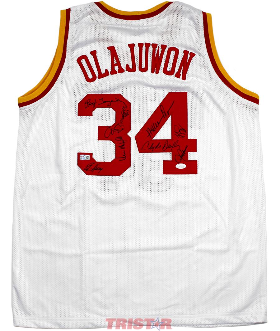 innovative design efed9 e63f4 Houston Rockets 1994-1995 Champions Team Autographed White Jersey -  Olajuwon, Drexler & More