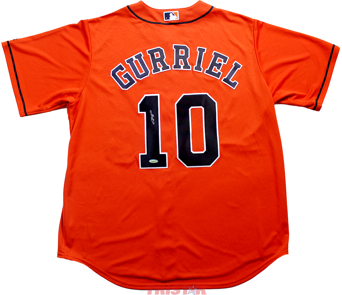 pretty nice b27ca 75f57 Yuli Gurriel, Jake Marisnick & Kyle Tucker Autographed Houston Astros  Jersey, 8x10 & Baseball + More