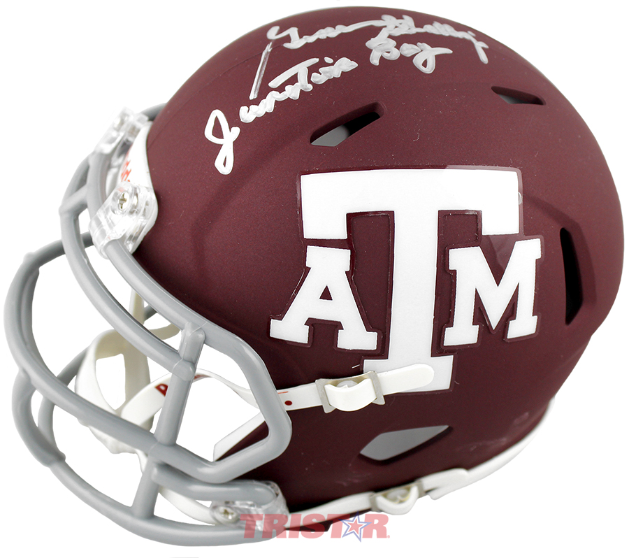 Gene Stallings Autographed Texas A M Aggies Mini Helmet Inscribed Junction Boy