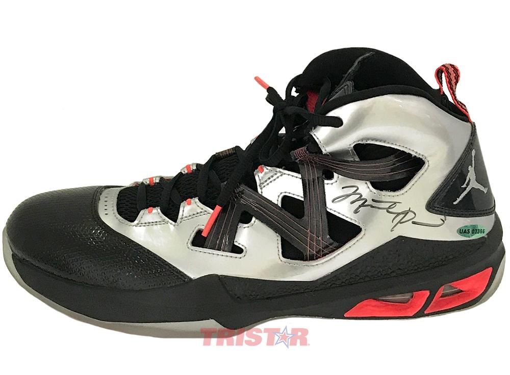 Michael Jordan Autographed Basketball Shoe