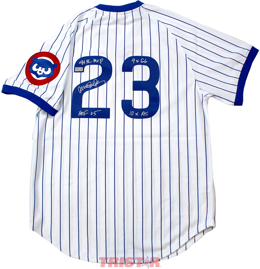 Ryne Sandberg Autographed Chicago Cubs 1987 Jersey Inscribed 84 NL MVP, 9xGG, 10xAS, HOF 05