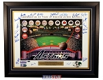 Houston Astros 35th Anniversary Poster Autographed by 21 Former Astros
