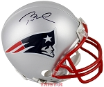 Tom Brady Autographed New England Patriots Mini Helmet