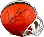Jim Brown Autographed Cleveland Browns Throwback Authentic Full Size Helmet