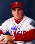 Matt Perisho Autographed Texas Rangers 8x10 Photo