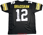 Terry Bradshaw Autographed Pittsburgh Steelers Custom Jersey