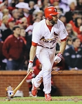 Lance Berkman Autographed Cardinals 2011 World Series 16x20 Photo