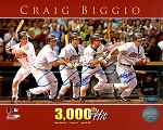 Craig Biggio Autographed Houston Astros 3000 Hit 8x10 Photo Inscribed HOF 15
