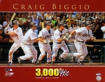 Craig Biggio Autographed Houston Astros 3000 Hit 16x20 Photo Inscribed HOF 15