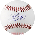 Chris Carter Autographed Official ML Baseball