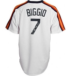 Craig Biggio Autographed Houston Astros Throwback Jersey Inscribed HOF 15