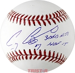 Craig Biggio Autographed Official ML Baseball Inscribed #7, 3060 Hits, HOF 15