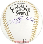 Jeff Bagwell Autographed Official Gold Glove Award Baseball