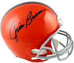 Jim Brown Autographed Cleveland Browns Throwback Replica Full Size Helmet
