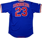 Ryne Sandberg Autographed Chicago Cubs Authentic Jersey Inscribed HOF 05