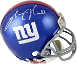 Sinorice Moss Autographed New York Giants Mini Helmet