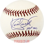 Kirby Puckett Autographed Official Major League Baseball Inscribed HOF 2001