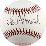 Carl Warwick Autographed Official Major League Baseball