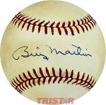 Billy Martin Autographed Official American League Baseball