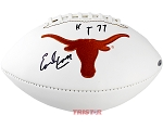 Earl Campbell Autographed UT Longhorns Logo Football Inscribed HT 77