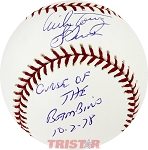 Bucky Dent & Mike Torrez Autographed Baseball Inscribed Curse of the Bambino 10-2-78