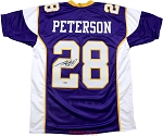 Adrian Peterson Autographed Minnesota Vikings Purple Custom Jersey