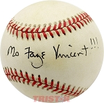 Fay Vincent Autographed Official American League Baseball Inscribed Ms Faye