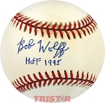 Bob Wolff Autographed Official AL Baseball Inscribed HOF 95