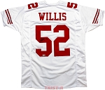 Patrick Willis Autographed San Francisco 49ers White Custom Jersey