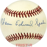 Warren Edward Spahn Autographed NL Baseball with Full Name Signature