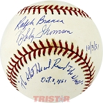 Ralph Branca & Bobby Thomson Autographed Baseball Inscribed Shot Heard Round the World