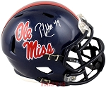 Patrick Willis Autographed University of Mississippi 'Ole Miss' Mini Helmet
