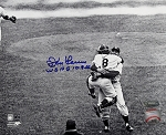 Don Larsen Autographed Yankees World Series 8x10 Photo Inscribed WS PG 10.8.56