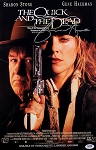 Sharon Stone Autographed The Quick And The Dead 11x17 Movie Poster