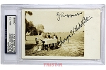 Babe Ruth & Jacob Ruppert Autographed Postcard