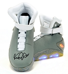 Michael J Fox Autographed Back to the Future Air Mag Shoes