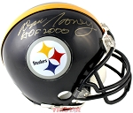 Dan Rooney Autographed Pittsburgh Steelers Mini Helmet Inscribed HOF 2000