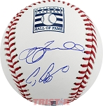 Jeff Bagwell & Craig Biggio Autographed Hall of Fame Logo Baseball