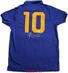 Pele Autographed 1958 Brazil World Cup Style Jersey