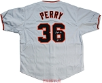 Gaylord Perry Autographed San Francisco Giants Custom Jersey Inscribed HOF 91